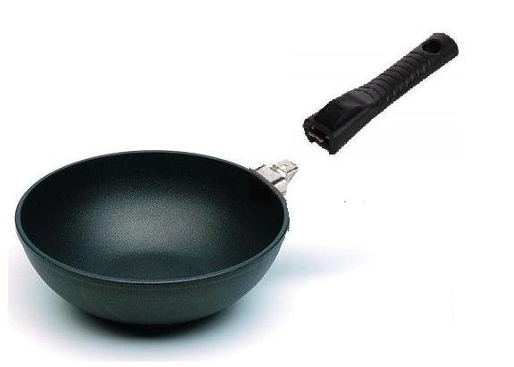 EXCELENT plasma titanová pánev Harecker 28 cm wok+ víko INDUKCE