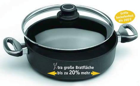 harecker , nejlepší německý výrobce plasma titanového nádobí představujenádobí o 20% větší